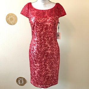 b10a7a891c1 Calvin Klein Dresses - Calvin Klein Red Sequins Cocktail Dress